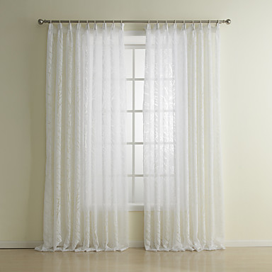 (One Panel Grommet Top) Classic Tree Sheer Curtain