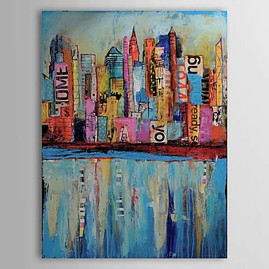 Hand Painted Abstract Landscape Abstract Landscape One