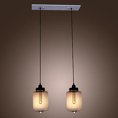 Moderne lampade a sospensione in vetro con 2 luci nel - Lampade a sospensione moderne design ...