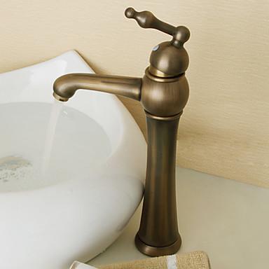 art d co retr lavabo valvola in ceramica una manopola un foro with ottone antico lavandino. Black Bedroom Furniture Sets. Home Design Ideas