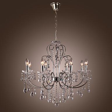Moderne kerze vorgestellten kristall kronleuchter mit 8 lichtern ...