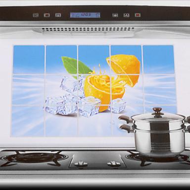 Buy 75x45cm Lemon Pattern Oil-Proof Water-Proof Kitchen Wall Sticker