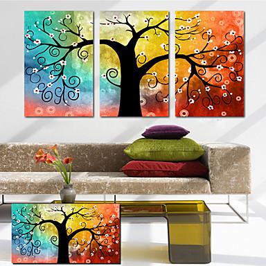 Conjunto de lona de 3 bot nico colorido rbol de la vida for Decoration murale arbre de vie