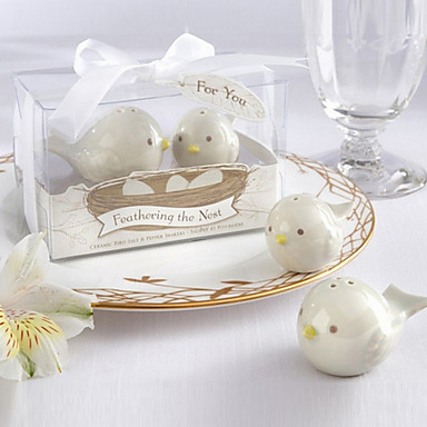 """""""Feathering the Nest"""" Birds Salt and Pepper Shakers"""