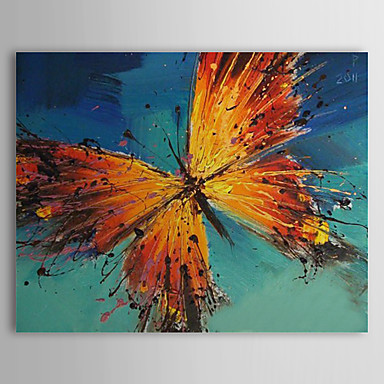 Hand Painted Oil Painting Animal Butterfly with Stretched Frame 1309-AN1017