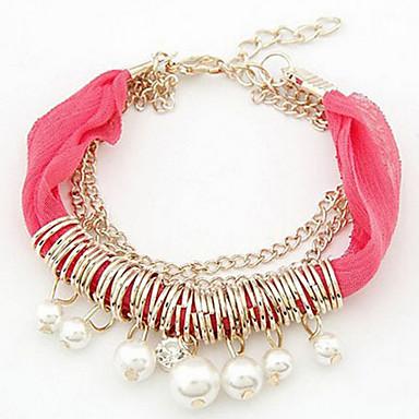 (1 Pc)Fashion 45cm Women's Lace Friendship Bracelet(Red, Blue, Black, White, ...