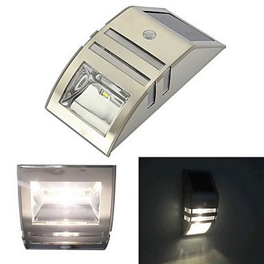 Wall Top Solar Lights : Solar Motion Sensor Super Bright LED Wall Light for Pathway Staircase Step Garden Yard Wall ...