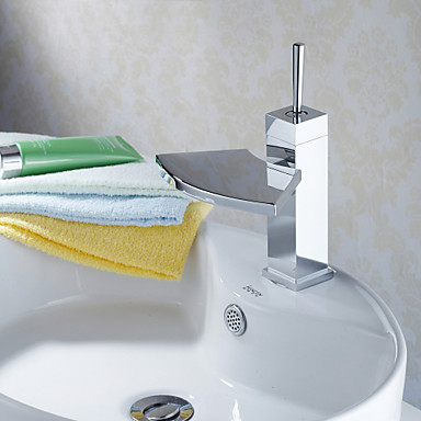 Grifo lavabo contempor neo di lat n cascada cromo - Grifo lavabo cascada ...