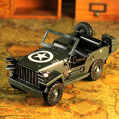 """11""""Retro Style Army Car Type Metal Collectible"""