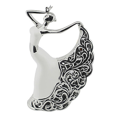 """11.75""""H Modern Style Ceramic Character Collectibles"""