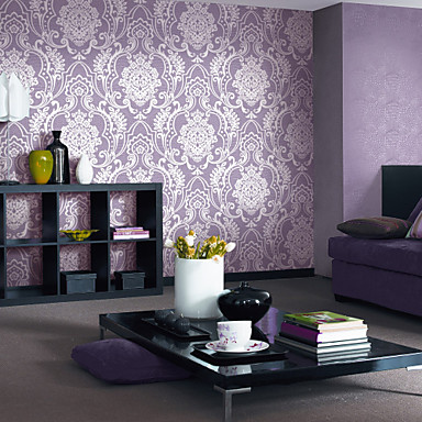 Floral Wallpaper Retro Wall Covering,Non-woven Paper Yes