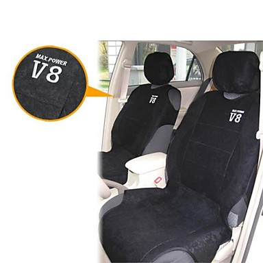 t16767 4 pieces car seat cover set seat vest luxury microfiber max power v8 black 1097704 2016. Black Bedroom Furniture Sets. Home Design Ideas