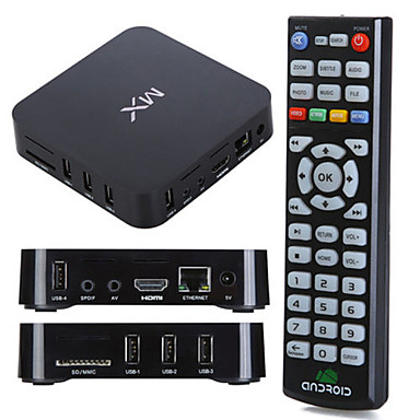 MX Cortex A9 Android 4.2.2 Smart TV Box 1G RAM 8G ROM Dual Core Wifi with Remote Control