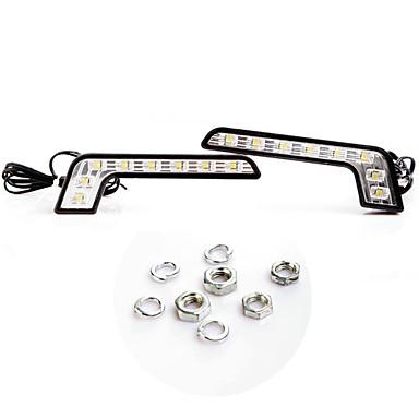 2 super brillant blanc 8 led drl de jour de voiture de course de conduire la lumi re de 891529. Black Bedroom Furniture Sets. Home Design Ideas