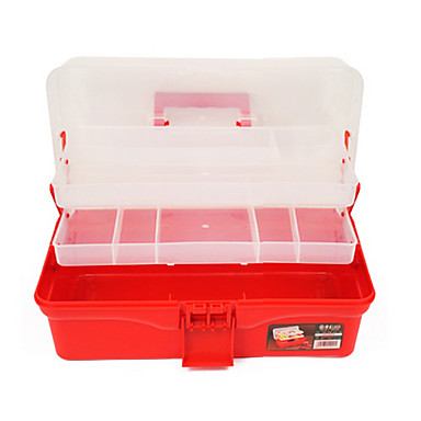 (36.4*19*16.4) Plastic Red Multifunctional Tool Boxes