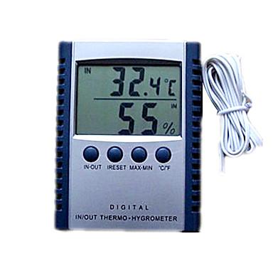 Temperatura lcd digital medidor de humedad con reloj for Medidor de temperatura y humedad digital