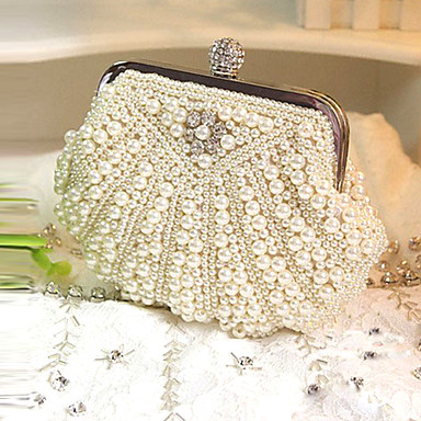 Handbags/ Clutches With Pearls For Wedding/Special Occasion (More Colors)
