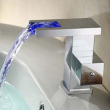 Grifo lavabo contempor neo di lat n led cascada - Grifo lavabo cascada ...