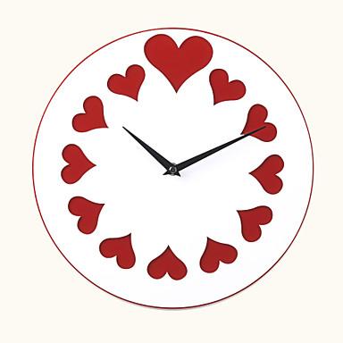 12 h estilo moderno lively amor acr lico del reloj de - Reloj de pared moderno ...