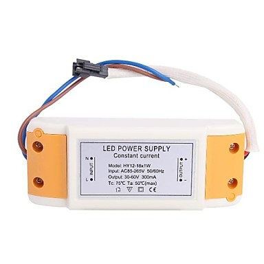 (12-18)x1W LED Driver Power Source Converter for Ceiling Light (30-60V,300mAh)