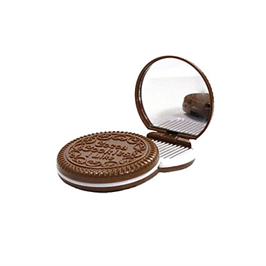 Buy 6.5*6.5*1.2 cm Chocolate Cosmetic Mirror