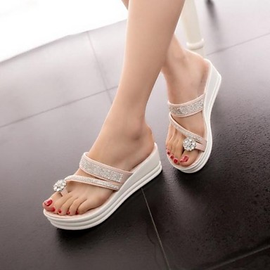 Lovely Beading Women's Platform Toe Ring flip flop Sandals Shoes(More Colors)