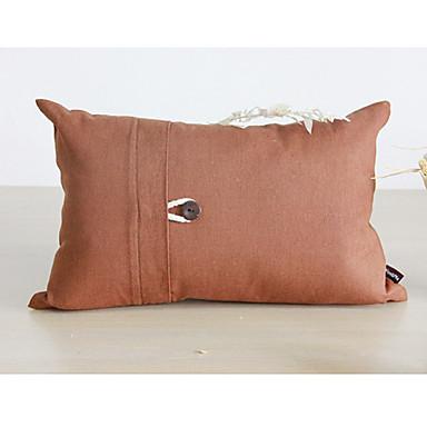 Rectangular Button Solid Cotton/Linen Decorative Pillow Cover 1681396 2017 ? $15.74