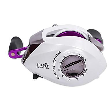 Ts rinoya right handle 10 1 ball bearing purple low for Purple fishing reel