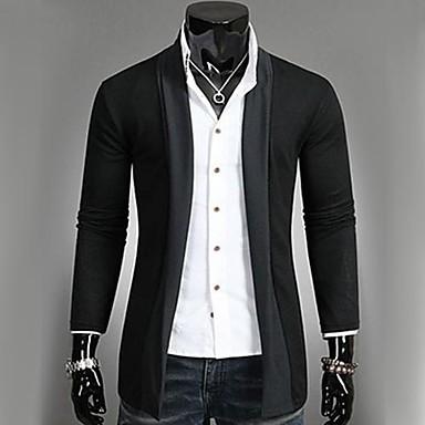 Men's Cardigan , Cotton/Polyester Long Sleeve