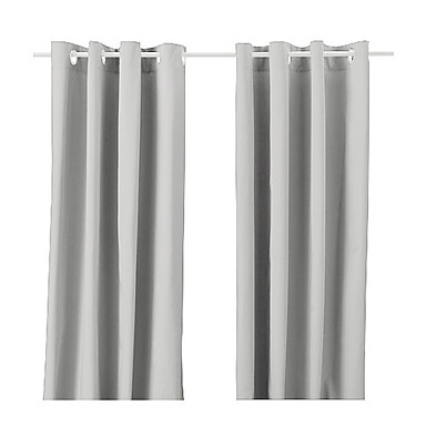 (One Panel Grommet Top) Modern Classic Solid Energy Saving Curtain