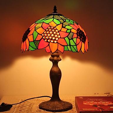 Tiffany bordlamper med sunflower og glassperler for nattbordslampe ...