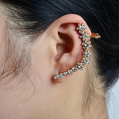 earring flower ear cuffs jewelry women wedding party