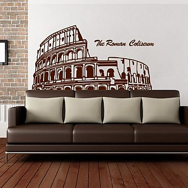 Wall stickers wall decals european style rome stadium for Wall stickers roma