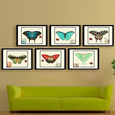 Buy Animal Framed Canvas / Set Wall Art,PVC Black Mat Frame Art