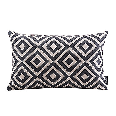 Buy Cotton/Linen Pillow Cover , Plaid Modern/Contemporary