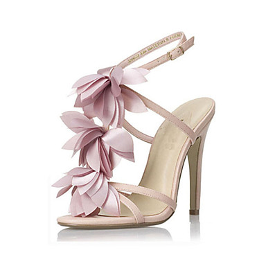 Buy Pink flower Stiletto Heel Ankle Strap Sandals Women's Shoes Party / Evening
