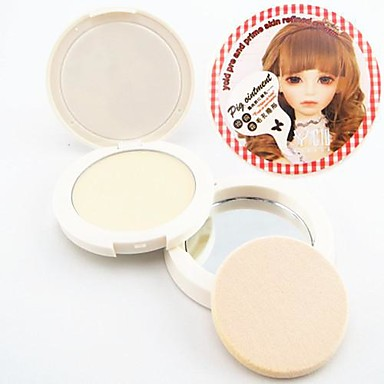 3in1 Pig Grease Oil Control/Pore Cover/Primer Makeup Base Refined Smooth Cream(Powder Puff&Mirror in,Net 4.5g)