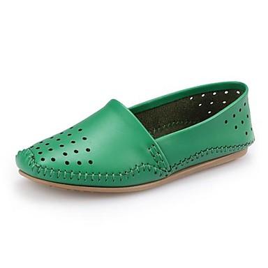 Zoutkringen in leren schoenen