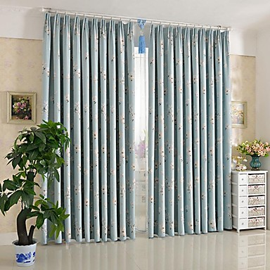 Anti Two Panels Pastoral Small White Flowers Room Darkening Curtains Drapes 1846397 2016