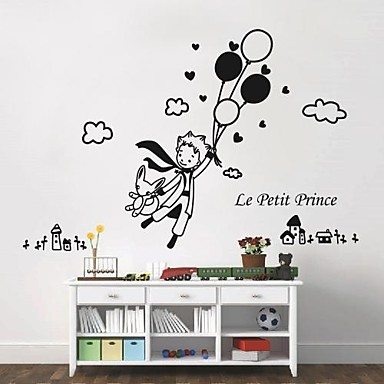 Wall stickers wall decals modern the little prince and - Sticker petit prince ...