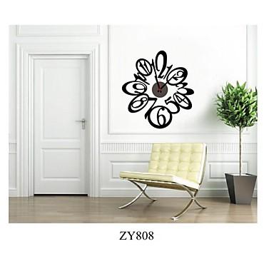 Zooyoo leuke bloemvorm elektronische batterij tijdwaarnemer klok muur sticker home decor voor - Woonkamer deco ...