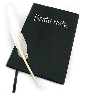 Buy Cosplay Accessories Inspired Death Note Anime Black Paper / PU Leather Male Female