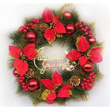Rojas puertas corona de navidad decorado decoraciones de - Coronas de navidad para puertas ...