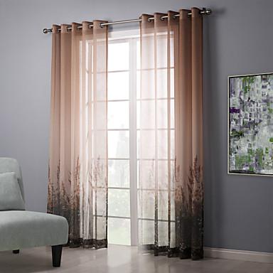 to paneler landet floral botanisk stue soverom ren gardiner ...