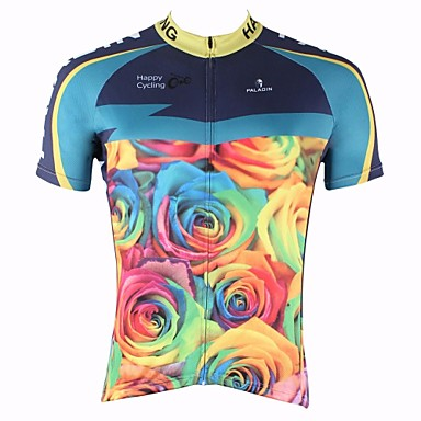Buy PALADIN® Cycling Jersey Men's Short Sleeve Bike Breathable / Quick Dry Ultraviolet Resistant Tops 100% Polyester Nature & Landscapes