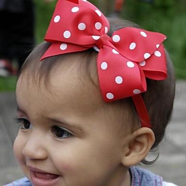 15pcs pack newborn baby girl dot ribbon bow headband