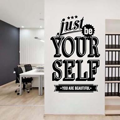 Jiubai® være deg selv inspirasjon sitat vegg klistremerke wall ...