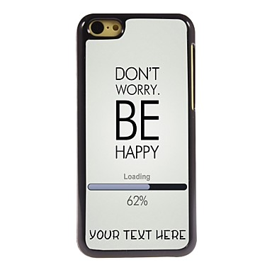Buy Personalized Phone Case - Worry Happy Design Metal iPhone 5C