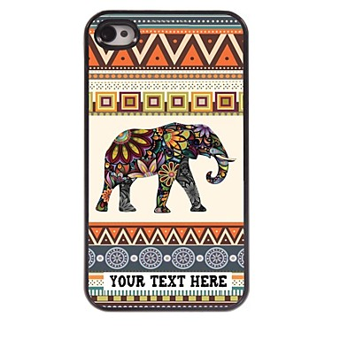 Buy Personalized Phone Case - Elephant Design Metal iPhone 4/4S