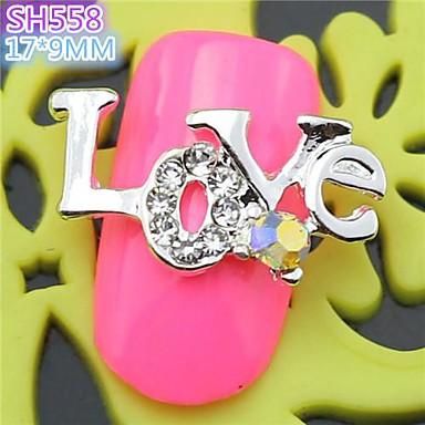 10st sh558 speciale ontwerp liefde luxe strass 3d legering nail art diy nagel schoonheid nagel - Decoratie murale ontwerp salon ...